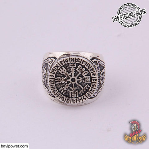 925 Sterling Silver Vegvisir Ring