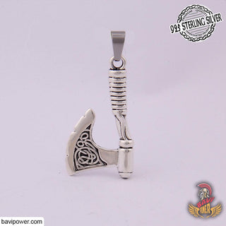 925 Sterling Silver Viking Axe Pendant