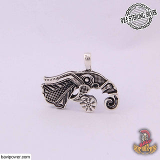 925 Sterling Silver Viking Eagle Pendant
