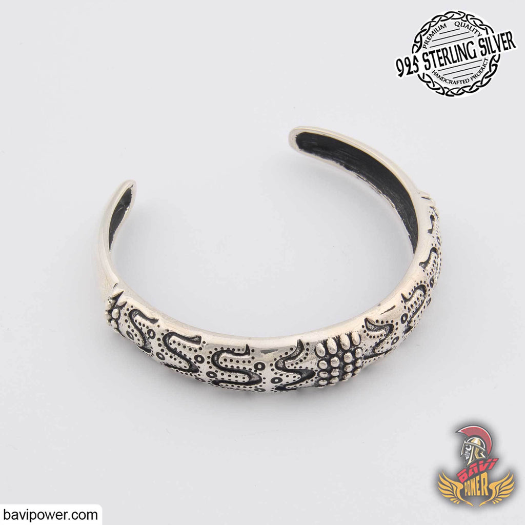 925 Sterling Silver Viking Falster Arm Ring