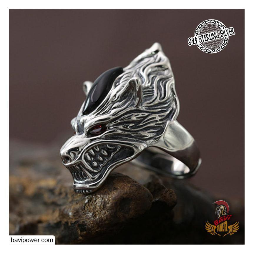 925 Sterling Silver Wolf Ring