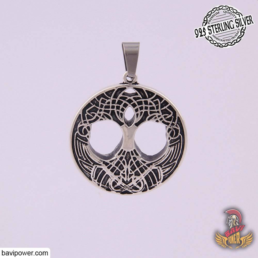 925 Sterling Silver Yggdrasil the Tree of Life Pendant