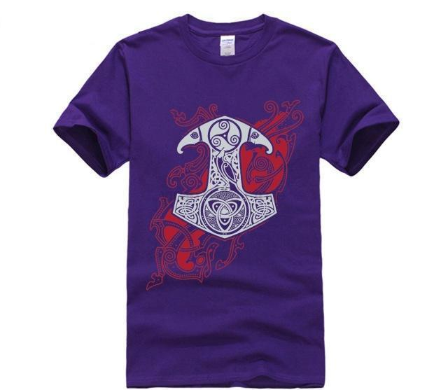 BaviPower Viking T-shirt Bloody Mjolnir