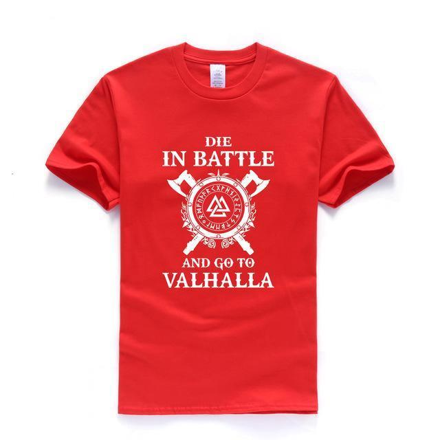 BaviPower Viking T-shirt Die In Battle And Go To Valhalla