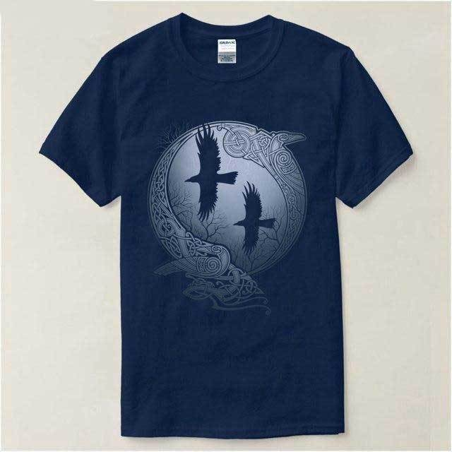 BaviPower Viking T-shirt Huginn and Muninn Ravens