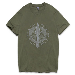 BaviPower Viking T-shirt Odin's Weapons Gungnir, Huginn and Muninn