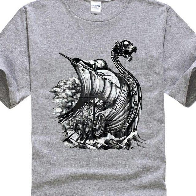 BaviPower Viking T-shirt Snekkja Viking Longship