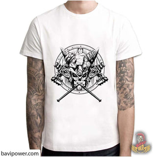 BaviPower Viking T-shirt - Viking Warrior's Skull
