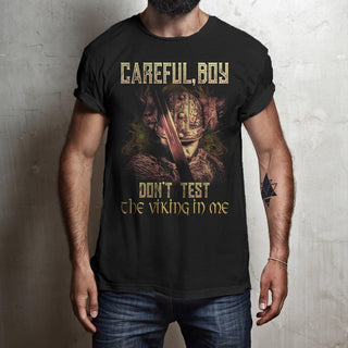 bavipower-viking-jewelry-Careful, boy. Don't test the Viking in me-BaViPower-Gildan Short-Sleeve T-Shirt-Black-S-BaViPower