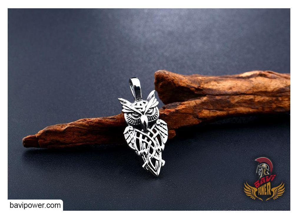 Celtic Owl Pendant Necklace