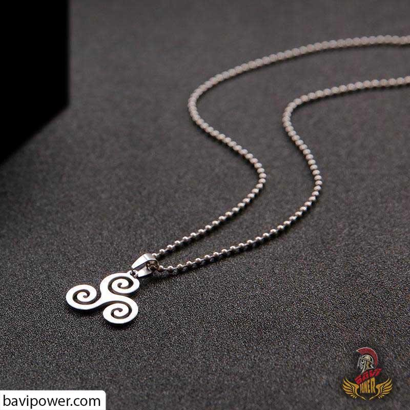 Celtic Triskele Charm Necklace for Women