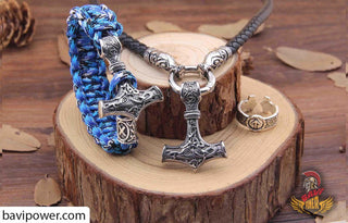 Combo Thor Hammer 3 items: Necklace, Bracelet, Ring