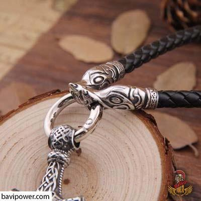 Fenrir Thor's Hammer Necklace & Bracelet Set
