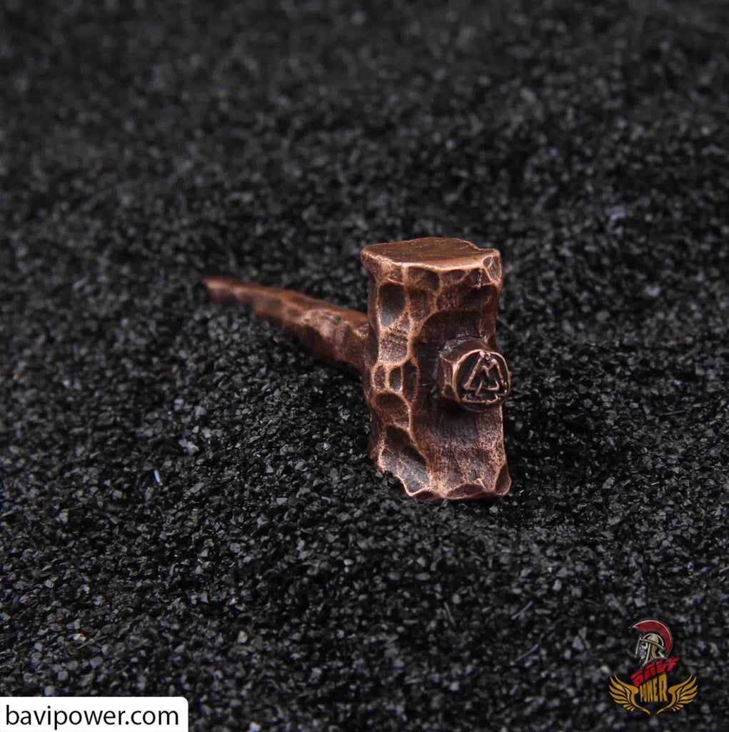 Forged Thor's Hammer Pendant Leather Necklace