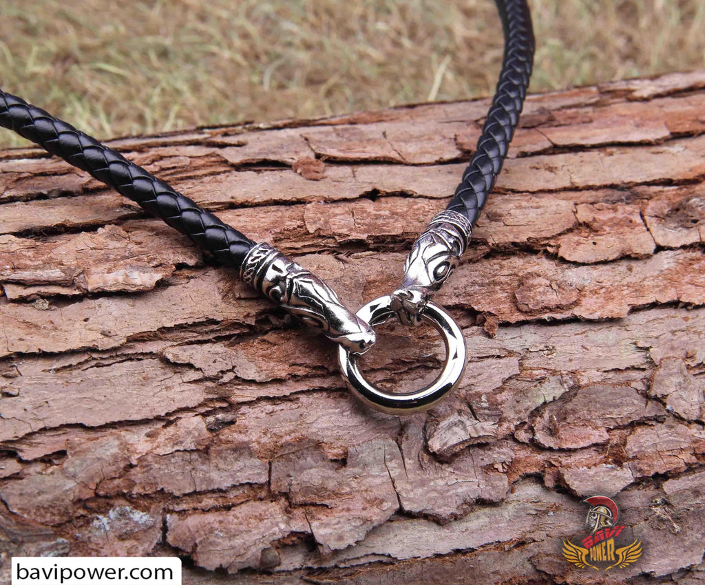 Genuine Leather Chain Necklace