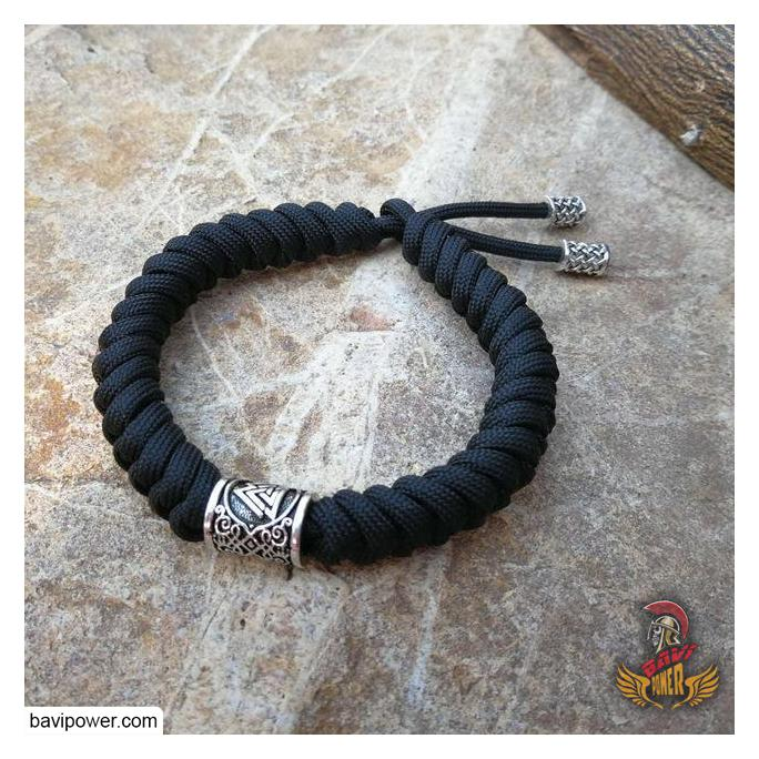 Handmade Bracelet With Viking Valknut Bead