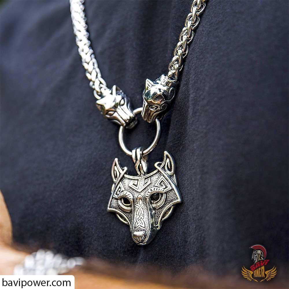 Handmade Wolf King Pendant Necklace