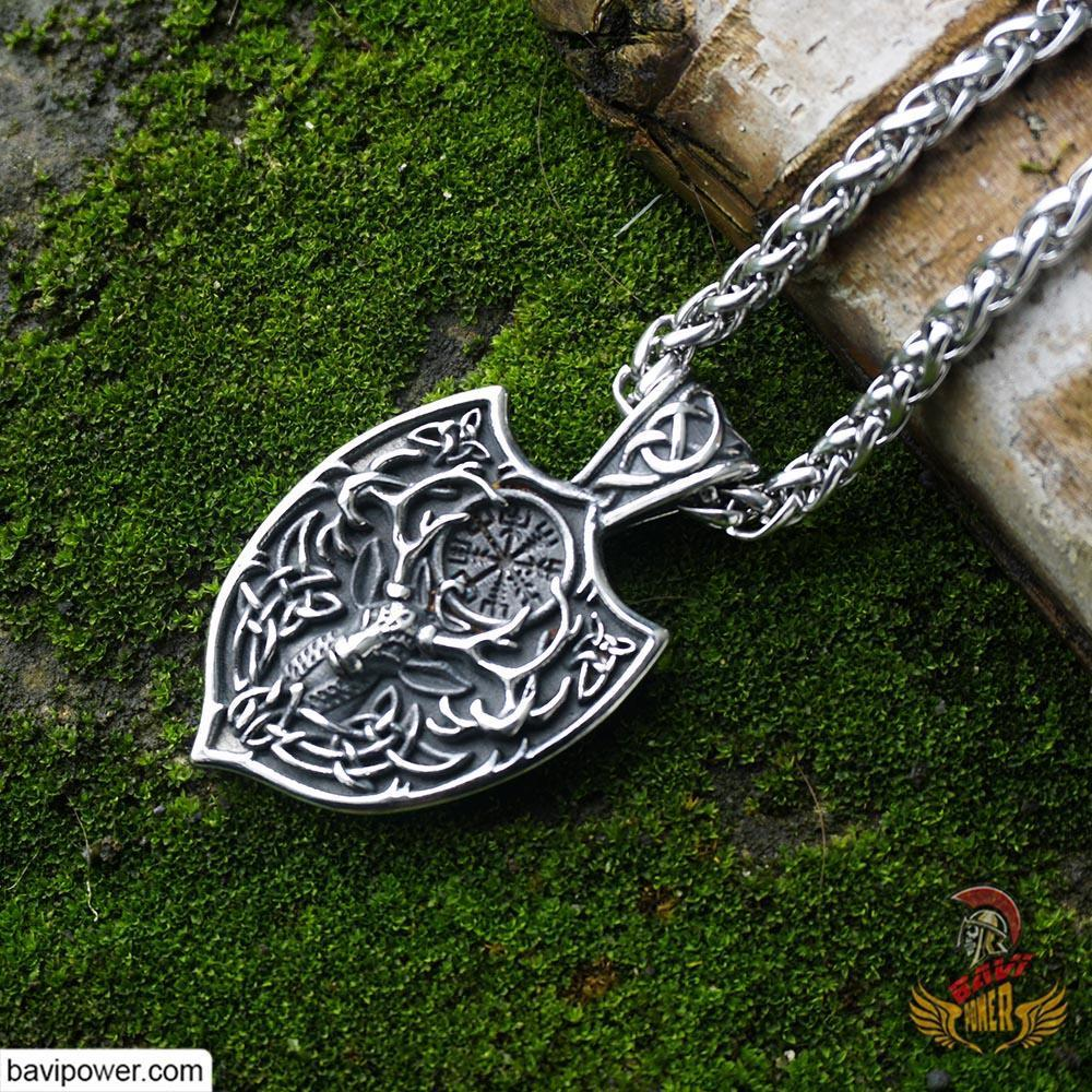 Helm Of Awe Deer Pendant Necklace
