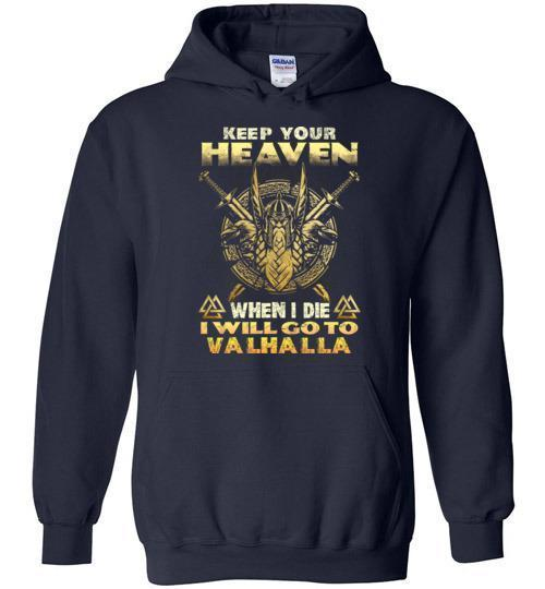 bavipower-viking-jewelry-Keep your heaven-BaViPower-Gildan Heavy Blend Hoodie-Navy-S-BaViPower