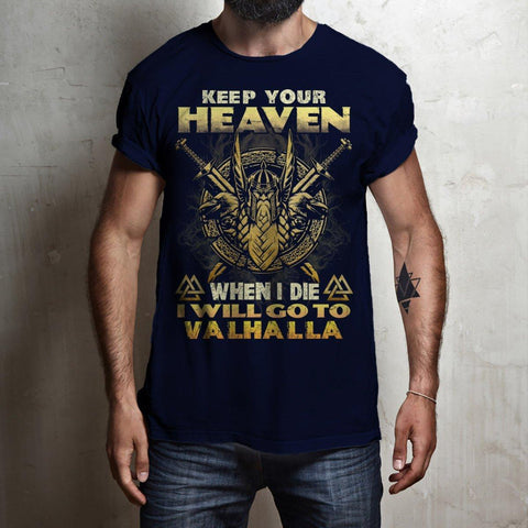 bavipower-viking-jewelry-Keep your heaven-BaViPower-Gildan Short-Sleeve T-Shirt-Black-S-BaViPower