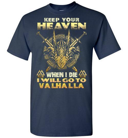bavipower-viking-jewelry-Keep your heaven-BaViPower-Gildan Short-Sleeve T-Shirt-Navy-S-BaViPower