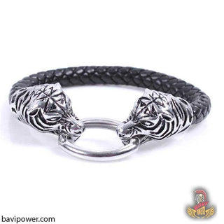 Leather Tiger Bracelet