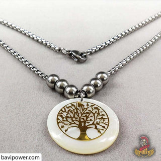 Natural Shell Tree of Life Pendant Necklace