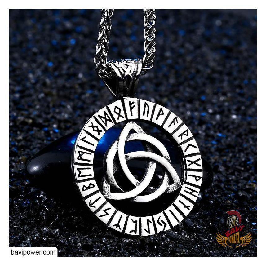 Runic Triquetra Pendant Necklace