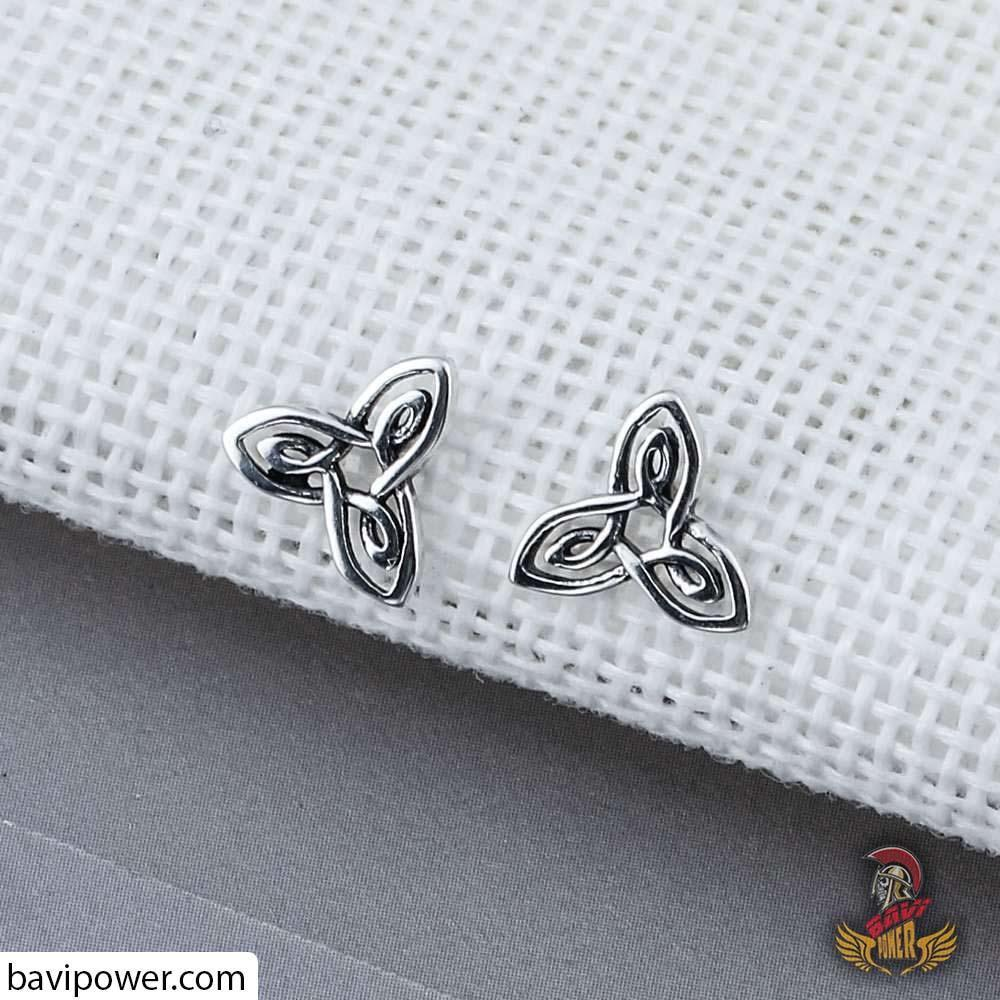 S925 Silver Trinity Knot Earrings