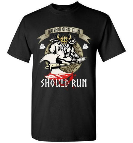 "bavipower-viking-jewelry-""Should Run"" T-Shirt & Hoodie-t-shirt-BaViPower-Short-Sleeve T-Shirt-Black-M-BaViPower"