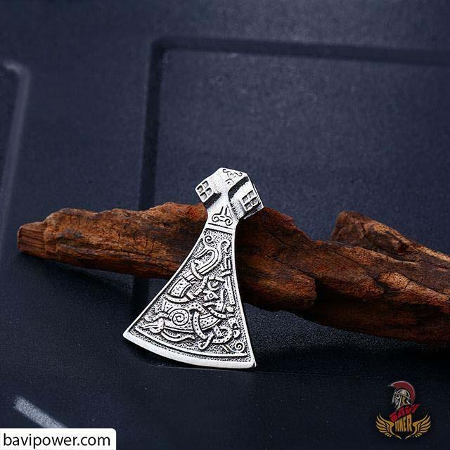 Stainless Steel Battle Axe Pendant BP8-268
