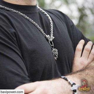 Stainless Steel Big Wolf King Chain Necklace
