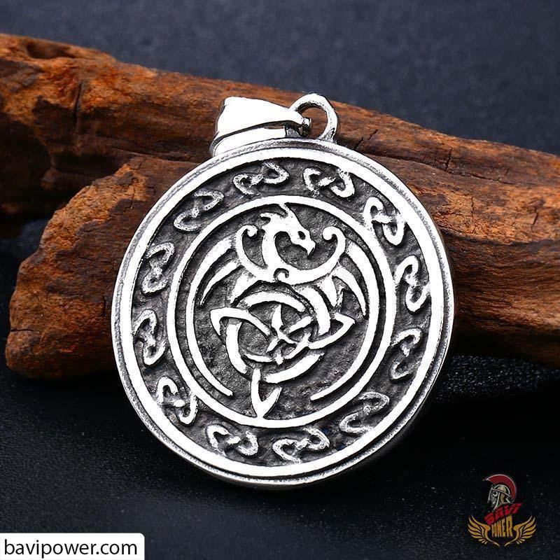 bavipower-viking-jewelry-Stainless Steel Dragon Pendant-pendant-BaViPower-BaViPower