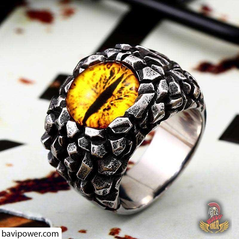 Stainless Steel Dragon Eye Ring