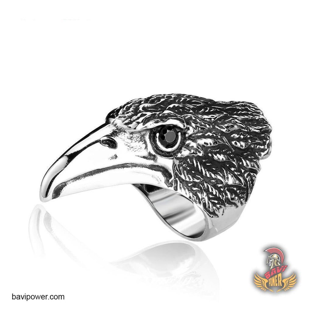 Stainless Steel Eagle Head Ring