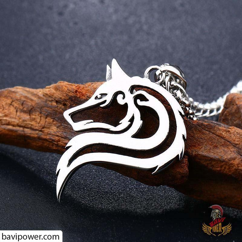 Stainless Steel Fenrir Wolf Pendant