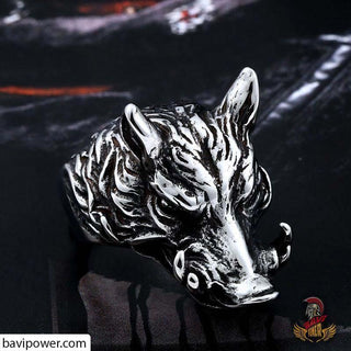Stainless Steel Gullibursti Boar Ring