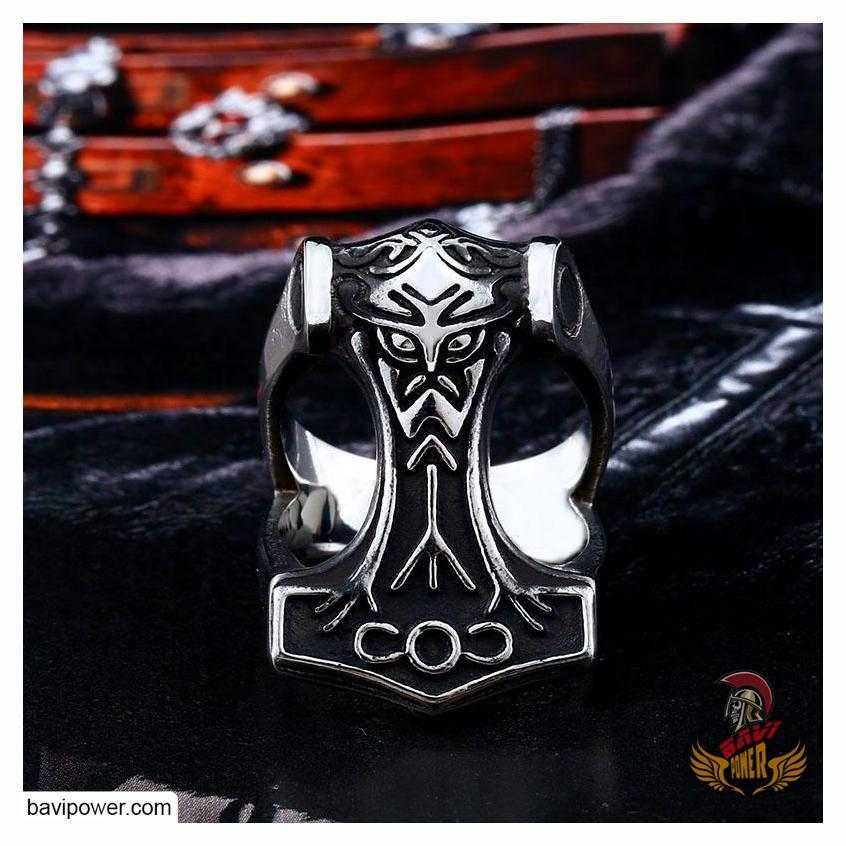 Stainless Steel Mjolnir Hammer Ring