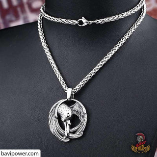 Stainless Steel Raven Pendant Necklace