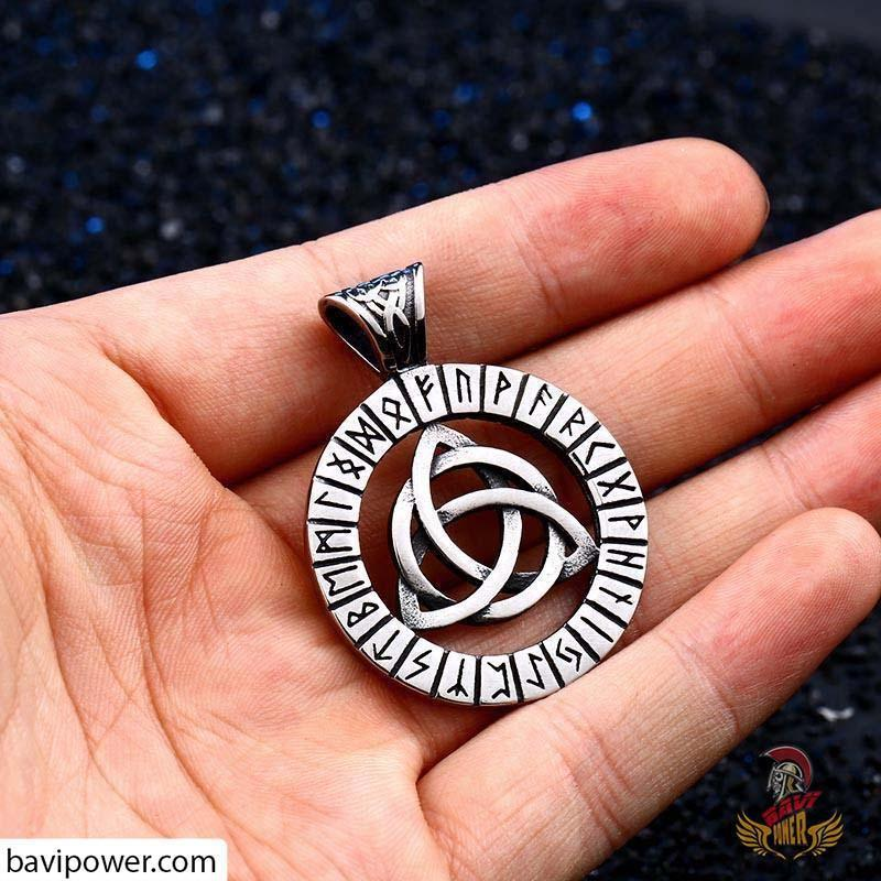 Stainless Steel Runic Triquetra Pendant
