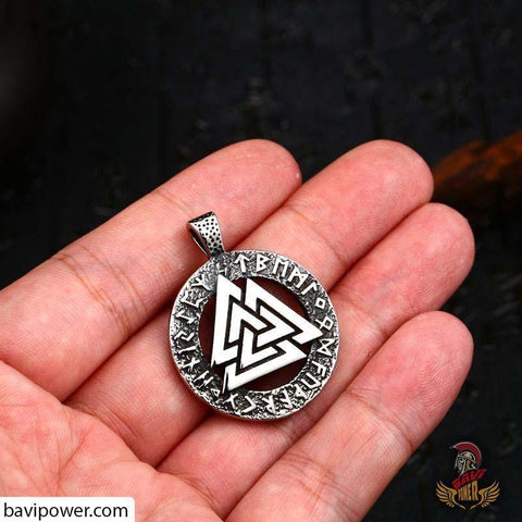 Image of Valknut symbol Odin symbol in Jewelry design pendant