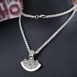 Stainless Steel Tiwaz Axe Pendant Necklace