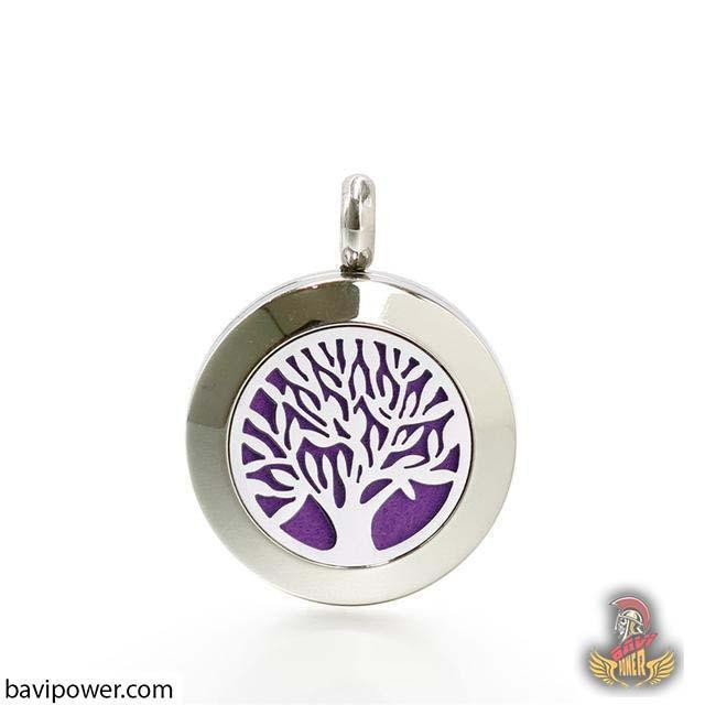 Stainless Steel Tree of Life Locket Pendant Necklace