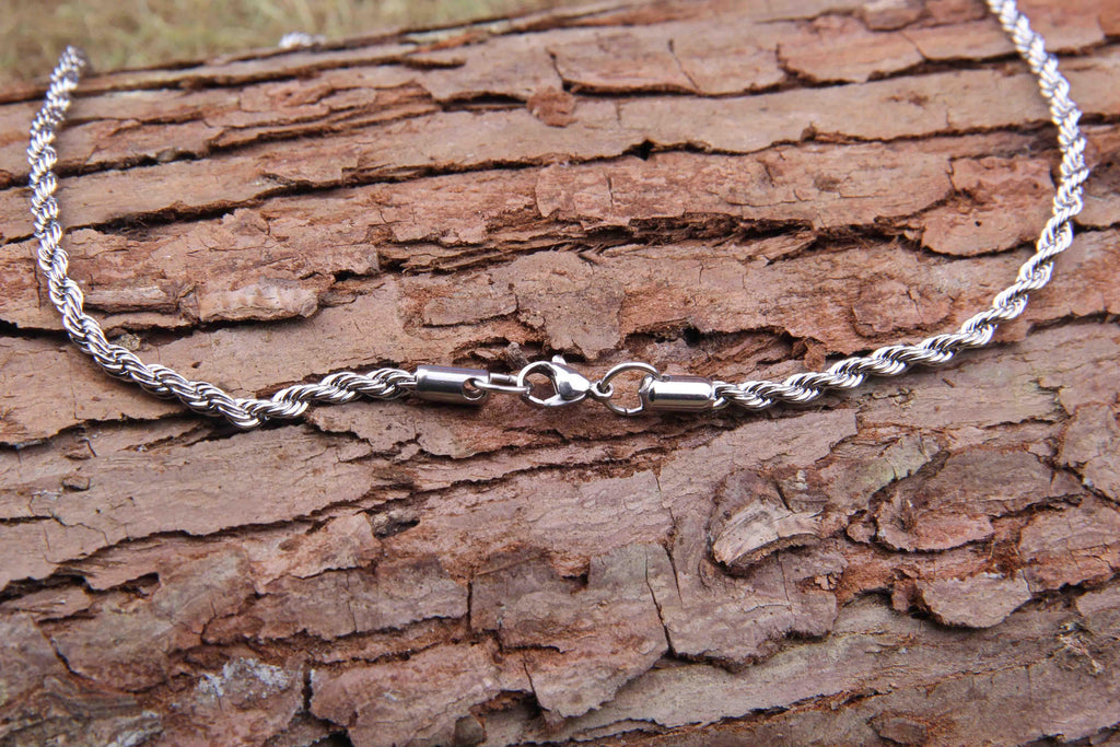bavipower-viking-jewelry-Stainless Steel Twisted Chain Necklace-necklace-BaViPower-50 cm-BaViPower