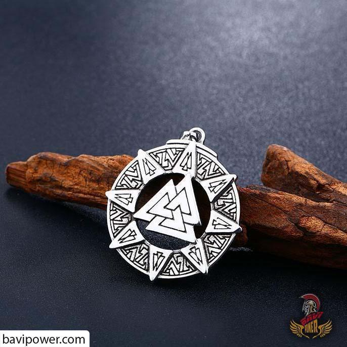 Stainless Steel Valknut Pendant BP8-290