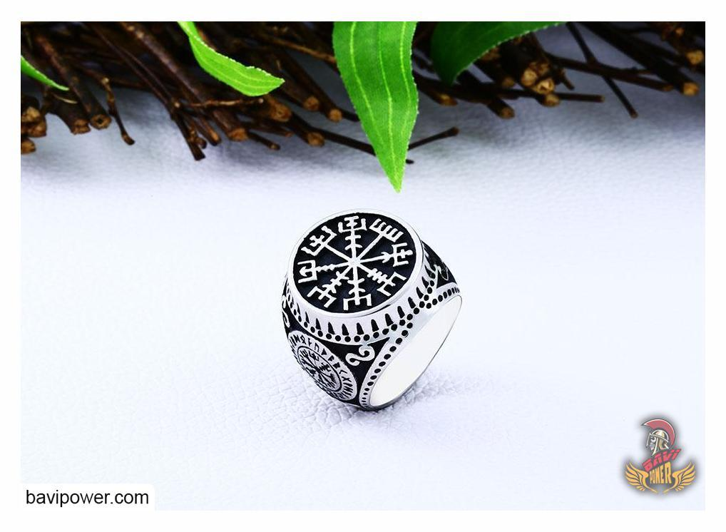 Stainless Steel Vegvisir Ring