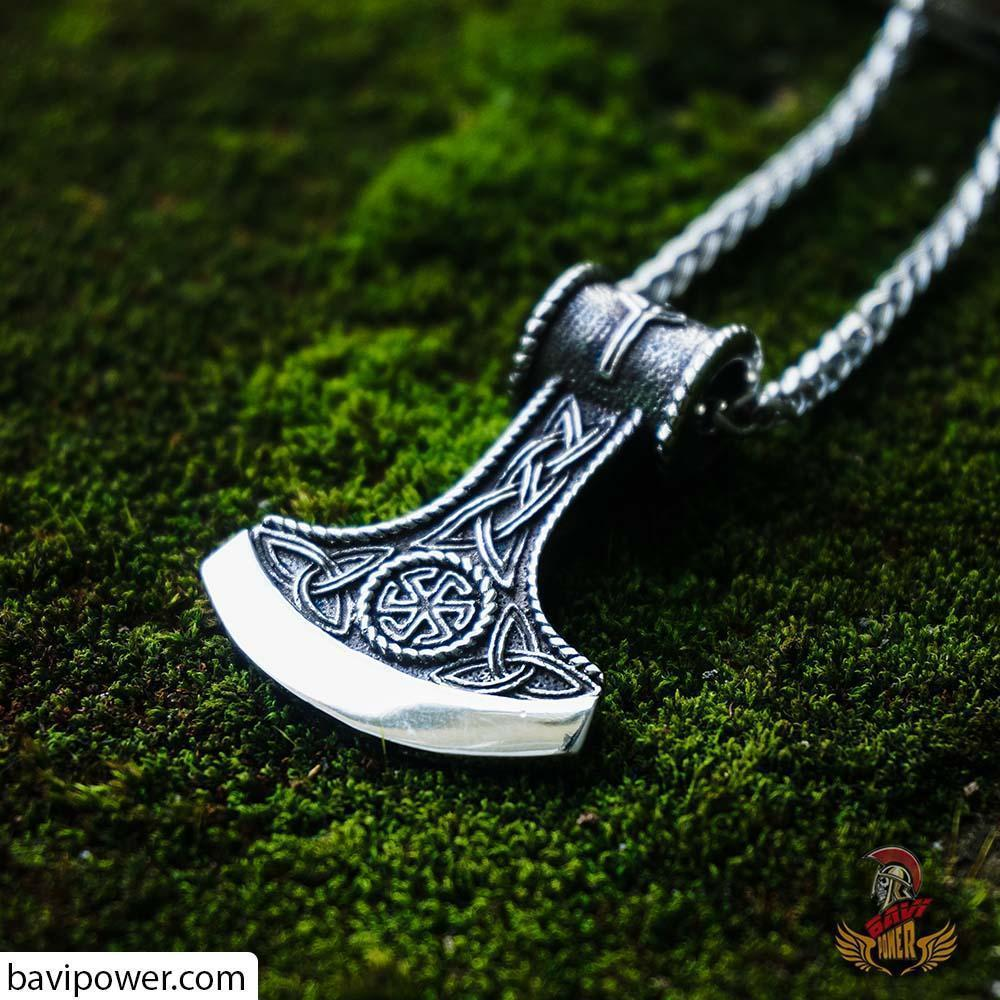 Stainless Steel Viking Axe Pendant Necklace