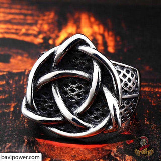 Stainless Steel Viking Triquetra Ring