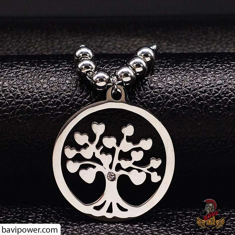 Tree of Life Pendant Bead Necklace for Women