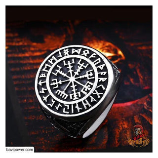 Vegvisir The Runic Compass Ring